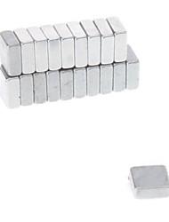 Недорогие -20шт 5x5x2mm Магнитные Cube Magic (серебро)