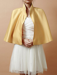 cheap -Sleeveless Capelets Satin Wedding / Party Evening Wedding  Wraps / Hoods & Ponchos With