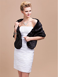 cheap -Shawls Feather / Fur Party Evening / Casual / Office & Career Fur Wraps / Shawls With
