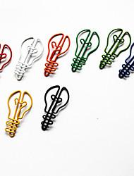 Недорогие -стиль лампы красочные скрепки (случайный цвет, 10 шт)