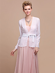 cheap -Party/Evening Chiffon Coats/Jackets Long Sleeve Wedding  Wraps