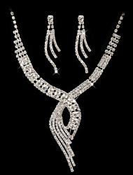 cheap -High Quality Czech Rhinestones With Alloy Plated Wedding Necklace And Earrings Jewelry Set