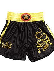 cheap -Kick Boxing Professional Embroidery Shorts Golden Dragon & Black (Average Size)