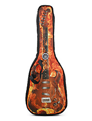"""cheap -Soldier - (2035C2) 41"""" Flame Pattern Thick Padded Acoustic Guitar Bag"""