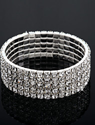 cheap -Women's Clear Bracelet Bangles Layered Fashion Multi Layer Alloy Bracelet Jewelry Silver For Wedding Engagement Gift