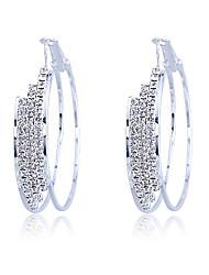 cheap -Women's Crystal Hoop Earrings Machete Ladies Classic Earrings Jewelry For Party