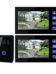 cheap -7 Inch TFT LCD Video Door  with Touch key (1 Camera with 2 Monitors)