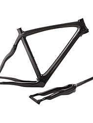 cheap -700C Road Frame Full Carbon Bike Frame 3K Glossy / 3K Matt Integrated Molded