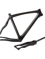 Недорогие -Рама для  дорожного велосипеда Полный углерод Велоспорт Рамка 700C 3К глянцевый / 3К матовый см дюймовый
