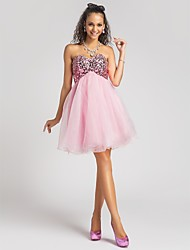 cheap -Ball Gown Sweetheart Short/Mini Organza And Sequined Cocktail/Prom Dress