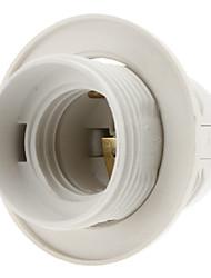 cheap -E27 Base Bulb Screw Thread Socket Lamp Holder (White)
