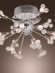cheap -MAISHANG® Flush Mount Lights Ambient Light Chrome Metal Crystal 110V / 110-120V / 220-240V / G4
