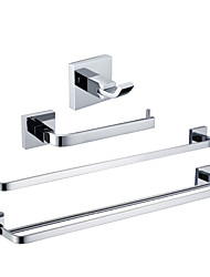 cheap -Bathroom Accessory Set Contemporary Brass 4pcs - Hotel bath Robe Hook / tower bar