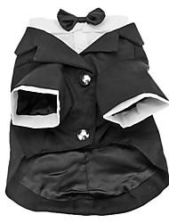 abordables -Chien Costume Smoking Vêtements pour Chien Couleur Pleine Coton Costume Pour Printemps & Automne Hiver Homme Cosplay Anniversaire Mariage