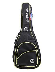 Недорогие -Солдат - (2015B) 2 Толстая Pockets Мягкая сумка электрические гитары