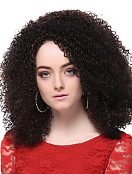 cheap -Synthetic Wig Curly Style Layered Haircut Full Lace Wig Synthetic Hair 13 inch Women's Waterfall Brown Wig Short