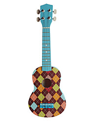 cheap -(Cheque-4) Basswood Soprano Ukulele with Bag/String/Picks