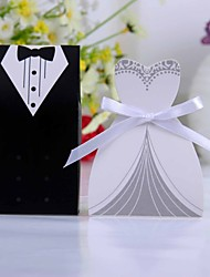 cheap -Creative Card Paper Favor Holder with Ribbons Favor Boxes - 12