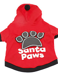 cheap -Dog Hoodie Puppy Clothes Letter & Number Winter Dog Clothes Puppy Clothes Dog Outfits Breathable Black Red Costume for Girl and Boy Dog Cotton XXS XS S M