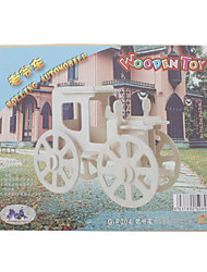 cheap -DIY Wooden 3D Old-Fashioned Four-Wheel Vehicles Style Puzzle (2pcs)