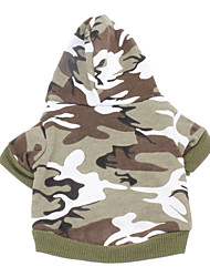 cheap -Dog Hoodie Dog Clothes Camo / Camouflage Green Pink Cotton Costume For Spring &  Fall Winter Men's Women's Casual / Daily Fashion