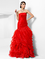 cheap -Ball Gown Strapless Floor-length Organza Evening/Prom Dress