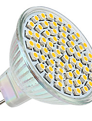 cheap -3 W LED Spotlight 250-350 lm GU5.3(MR16) MR16 60 LED Beads SMD 3528 Warm White 12 V