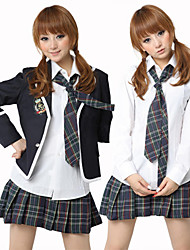 cheap -Uniforms Cosplay Costume Women's School Uniforms Halloween Carnival New Year Festival / Holiday Polyester Women's Carnival Costumes