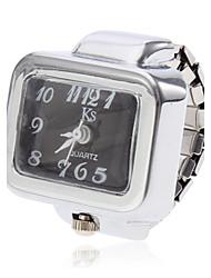 Недорогие -Жен. Часы-кольцо Квадратные часы Кварцевый Серебристый металл Повседневные часы Дамы Кулоны - Белый Черный Один год Срок службы батареи / SSUO SR626SW