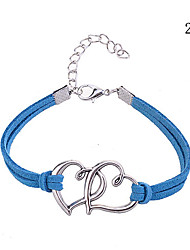 cheap -Women's Leather Bracelet Interlocking Ladies Round Bangles Leather Bracelet Jewelry Red / Blue / Pink For Party Casual Outdoor