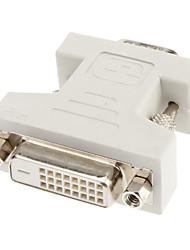 Недорогие -DVI 24 +1 к VGA F / M Адаптер
