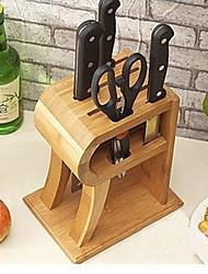 Недорогие -Подставка для ножей из бамбука, W18cm х L13cm х H22cm