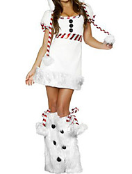 cheap -Fancy Dress Cute Snow Woman Costume (3 Pieces)