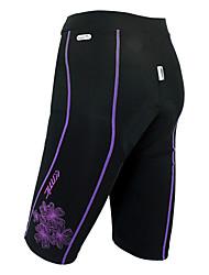 cheap -SANTIC Women's Cycling Padded Shorts Bike Shorts Padded Shorts / Chamois Pants Breathable 3D Pad Sports Solid Color Spandex Black Mountain Bike MTB Road Bike Cycling Clothing Apparel Advanced