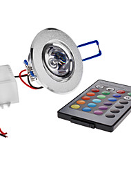 cheap -3 W LED Ceiling Lights 180 lm Recessed Retrofit 1 LED Beads High Power LED Remote-Controlled RGB 85-265 V