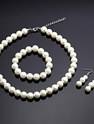 cheap -Women's Ivory Jewelry Set Earrings Jewelry Ivory For Wedding Party Anniversary Birthday Engagement Gift