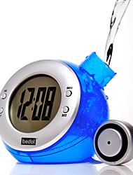 Недорогие -Эко-часы, работающие на воде, с функциями будильника и календаря (цвет случайный)