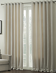 cheap -Custom Made Energy Saving Curtains Drapes Two Panels / Embossed / Living Room