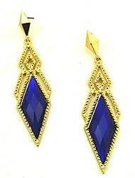 cheap -Women's Luxurious Metal Rhombus Gemstones Earrings