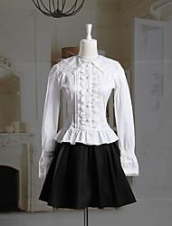 cheap -Classic Lolita Lolita Dress Women's Girls' Cotton Japanese Cosplay Costumes Solid Colored Long Sleeve Short Length / Classic Lolita Dress