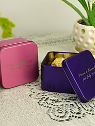 cheap -Personalized Cuboid Favor Tin - Set of 12 (More Colors)