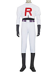 cheap -Inspired by Pocket Little Monster Team Rocket James Video Game Cosplay Costumes Cosplay Suits Solid Colored Long Sleeve Top Pants Gloves Costumes