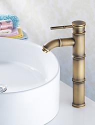 cheap -Bathroom Sink Faucet - Standard Antique Brass Vessel One Hole / Single Handle One HoleBath Taps