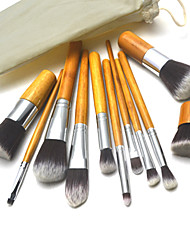 cheap -11 Makeup Brushes Professional Makeup Brush Set Synthetic Hair Big Brush / Middle Brush