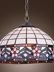 cheap -40W Tiffany Pendent Light with 1 Light in Floral Designed Fringe