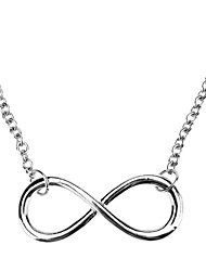 cheap -Women's Girls' Pendant Necklace Ladies Adjustable Gem Alloy Black Gold Silver Infinity Necklace Jewelry For Halloween Daily