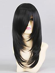 cheap -Love Live Yayoi Shioiri Cosplay Wigs Men's 20 inch Heat Resistant Fiber Black Anime