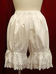 cheap -Vintage Lace Pants White Black Cotton Lolita Accessories