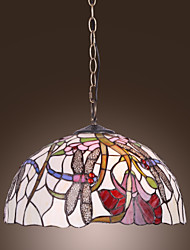 cheap -Tiffany Pendant Light with 2 Light in Dragonfly Floral Patterned Shade