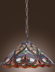 cheap -Tiffany Pendant Light with 2 Light in Artistic Patterned Shade